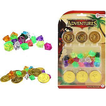 ADVENTURES Pirate Gold Money And Diamonds