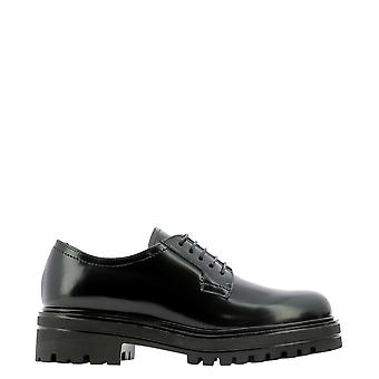Guglielmo Rotta 5715ttudorblack Women's Black Leather Lace-up Shoes