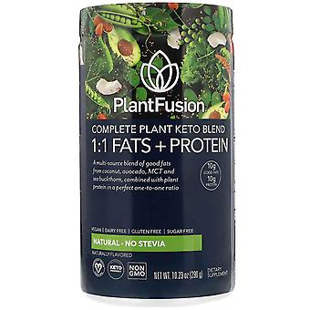 PlantFusion, Complete Plant Keto Blend, 1:1 Fats + Protein, Natural - No Stevia,