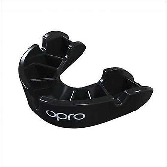 Opro junior bronze gen 4 mouth guard black