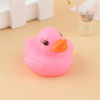 Nowy Cute Rubber Duck For Baby Shower - Multi Color Flashing Light Duck Toy