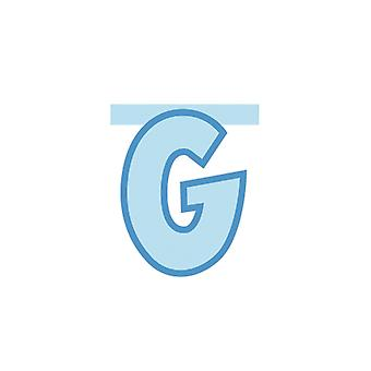 Linking Banner 20cm Baby Blue Letter - G Party Decoration