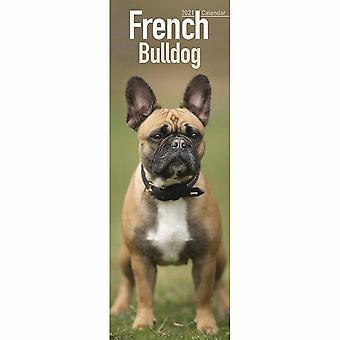 Otter House 2021 Slim Calendar-french Bulldog