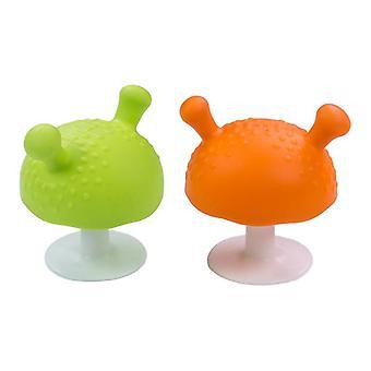Svampformad, silikon lugnande Teether leksak för spädbarn