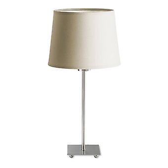 1 Lys bordlampe Satin Nickel, E27