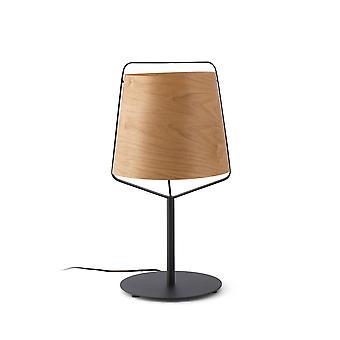 Faro Stood - 1 Leichte Tischleuchte Schwarz, Holz, E27