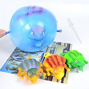 Funny Blowing Dinosaur Anxiety Stress Relief Inflatable Balloon Squeeze Ball
