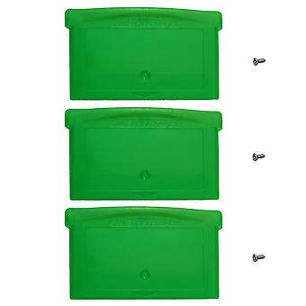 Game case for game boy advance nintendo game cartridge replacement – 3 pack solid green | zedlabz