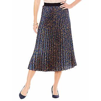 Chums Satin Permanent Pleat Print Skirt