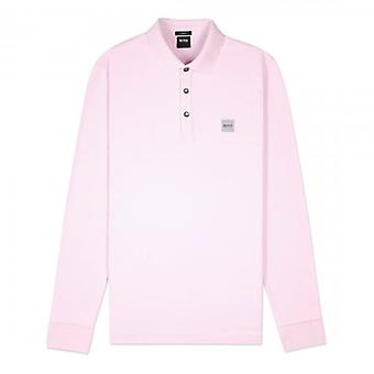 Boss Orange Hugo Boss Passerby Long Sleeve Polo Light Pink 50387465