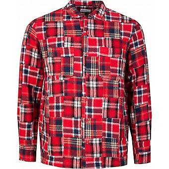 Universal Works Garage Geborsteld Patchwork Shirt