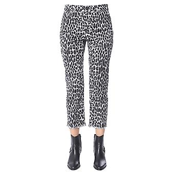 Michael Por Michael Kors Mf99crkcfw033 Women's Leopard Cotton Pants