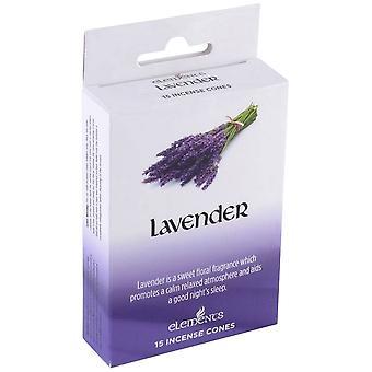 Elemente-Lavendel-Räucherkerzen (Schachtel mit 12 Packungen)