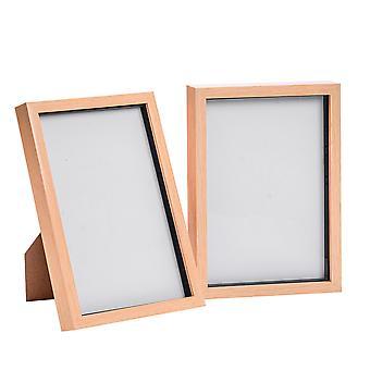 "Nicola Frühling Acryl Box Fotorahmen - lichtes Holz - 8 x 12"" (A4) - Packung mit 2"