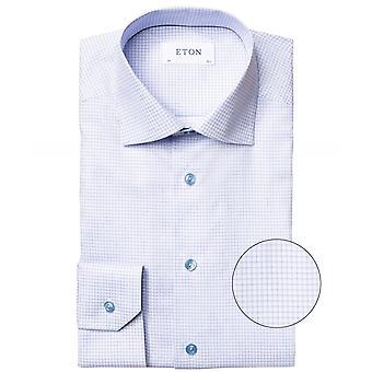 Eton Slim Fit camisa de algodón a cuadros