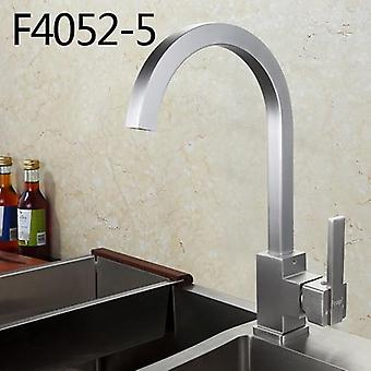 Hot And Cold Water Kitchen Sink Faucet, Space Aluminum Water Mixer Tap With 360