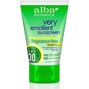 Alba Botanica Mineral Sunscreen, Fragrância Livre Spf30 4 Oz