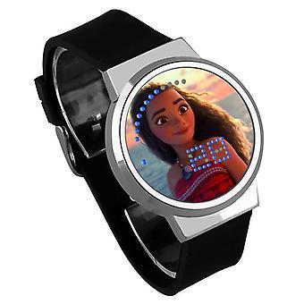 Vandtæt lysende LED Digital Touch Børn ur - Moana #6