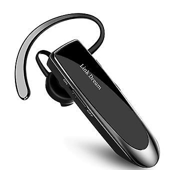 Link Dream Wireless Business Headset - Earplug One Click Control TWS Earpiece Bluetooth 5.0 Wireless Bud Headphone Earphone Black