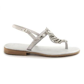 Balduccelli Silver With Hearts Flip flop sandals
