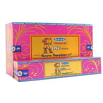 Satya Natural Rose Incense Sticks (Box Of 12 Packs)