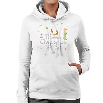 The Little Prince Christmas Stars Fox Sheep Women's Hooded Sweatshirt