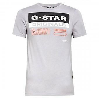 G-Star Raw Originals Tarra Logo T-paita Teräs Harmaa D18261