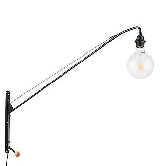 Italux Dexter - Lámpara de pared industrial y retro negro 1 luz , E27