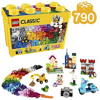 Lego 10698 classic large creative brick box construction set, toy storage, fun colourful toy bricks