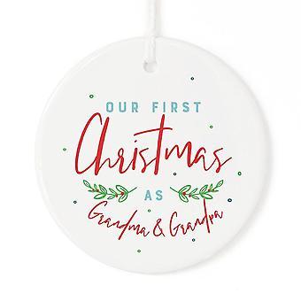 Babcia i dziadek-boże Narodzenie Ornament