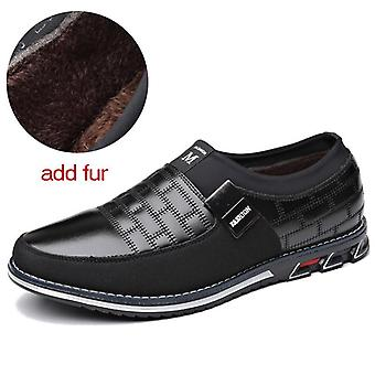 Echtes Leder Männer Casual Loafers atmungsaktive Slip-on-Fahrschuhe