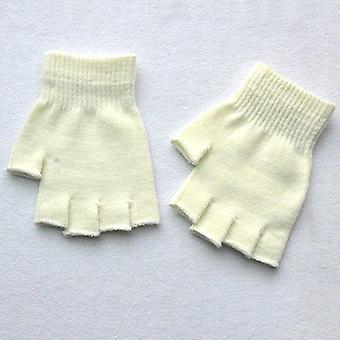 Hot Magic Gebreide handschoenen Kinderen Stretch Half Finger Winter Warme Wanten Solide