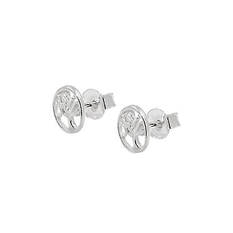 Oorbellen Studs Tree Of Live Silver 925