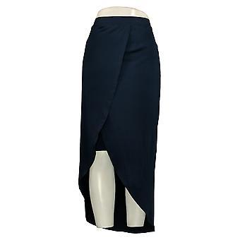 G.I.L.I. Skirt Liquid Knit Wrap Front Maxi Blue A290178