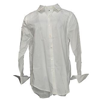 Atitudes por Renee Women'top parisian button-down camisa branca A376229