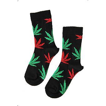Çok Renkli Kenevir Yaprakları ile Çocuk&s Pamuk Çorap