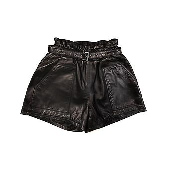 Women's High Waisted Wide Leg Belted Shorts