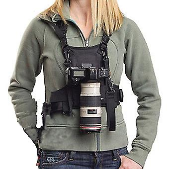 Nicama Camera Carrier Chest Harness with Mounting Hubs & Backup Safety Straps