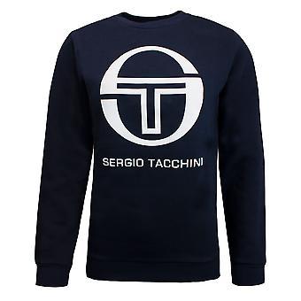 Sergio Tacchini Mens Zelda Sweatshirt Logo Grafisk tröja Navy 37703 200