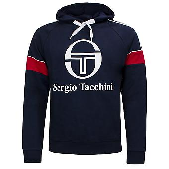 Sergio Tacchini Mens Dealtry Hoodie Graphic Logo Jumper Navy 38364 218