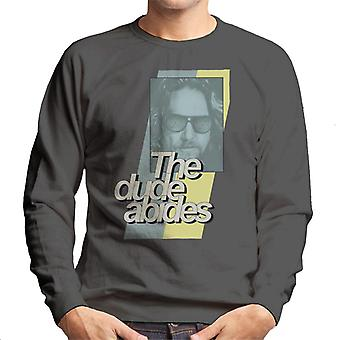 The Big Lebowski The Dude Abides Retro Lines Men's Sweatshirt