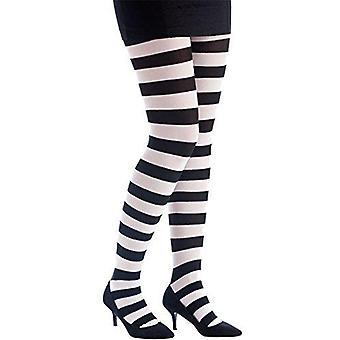P'tit clown-†74710 †opaque strumpftauche †'†eine Größe ray√© noir/blanc