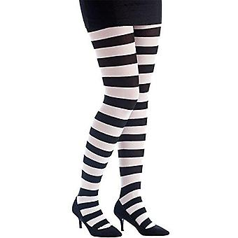 P'tit clown74710opaque tights–one size rayé noir/blanc