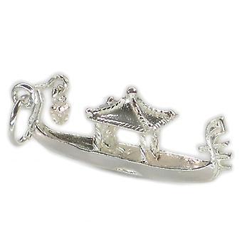 Gondol Sterling Sølv Charm 0,925 X 1 Gondoler Love Romance Charms