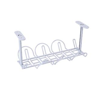 Under-table Storage Rack, Table Bottom Power Socket Holder