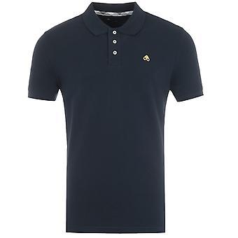 Moose Knuckles Cotton Pique Polo Shirt - Navy