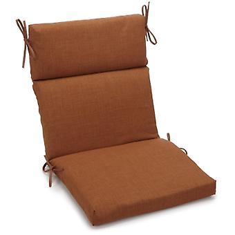 Coussin de chaise carrée extérieure en polyester de 18 pouces par 38 pouces - Moka