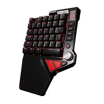 لوحة مفاتيح الألعاب الميكانيكية السلكية مع الإضاءة الخلفية RGB، يد واحدة