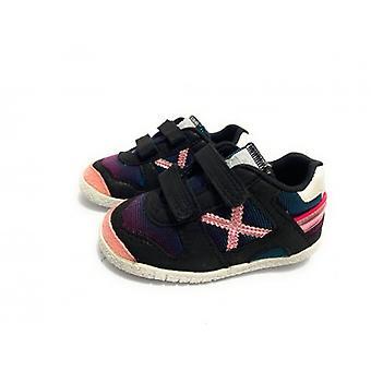 Munich Baby Goal Sneaker With Black Suede Strap/ Z21mu06 Fabric