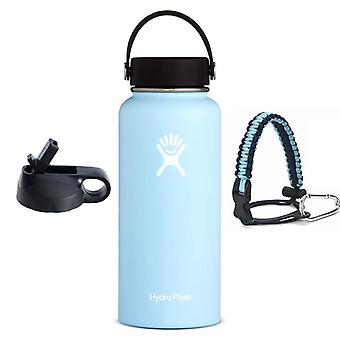 Hydroflast Water Bottle, Stainless Steel, Vacuum Insulated Wide Mouth, With